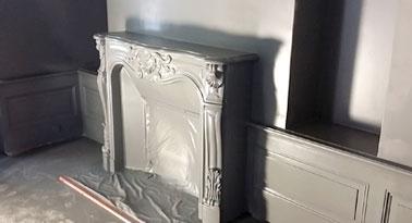 Peinture d'une cheminée à Dinard